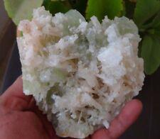 GREEN APOPHYLLITE ON SCOLECITE Rocks, Fossils & Minerals H-11