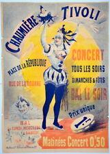 Affiche. H. Gray. Chaumière Tivoli. Paris. Lithographie vers 1900