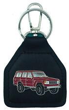 Toyota Landcruiser 60 series - red wagon - Genuine leather key fob - E021103F