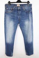 Levi Strauss & Co 501 Men Jeans Blue Straight Fit Cotton size W36 L30