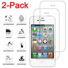 2Pcs Screen Protector Protective Film Real Tempered Glass For Apple iPhone 4/4S