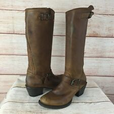 Stetson Brown Leather 13 Inch Engineer Riding Boots Sz 7 M Motorcycle