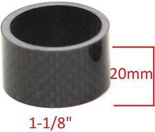 "HEADSET SPACER 1-1/8"" (28.6mm) CARBON FIBRE 20mm Road Bike MTB BMX 3086"