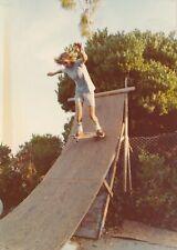 M21 Vintage Photo Snapshot 3x5 Old School Skateboard Pic 1977 Wood Quarter Pipe
