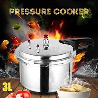 3L Pressure Cooker 18CM Commercial Grade Aluminum Kitchen Stove Cookware