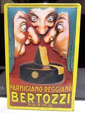 """PARMESAN CHEESE/ PARMIGIANO REGGIANO, EMBOSSED(3D) ADVERTISING SIGN, 12""""X 8"""""""
