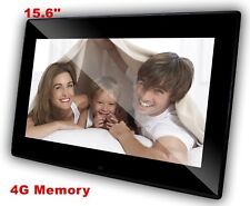 QPIX Digital 15.6'' Photo Frame Built-in Clock and Calendar 4GB Memory LED Panel