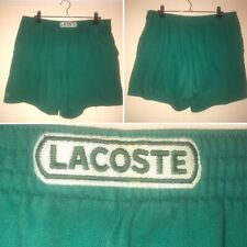 True Vintage Lacoste Size S Green Cotton Jersey Shorts Made In France