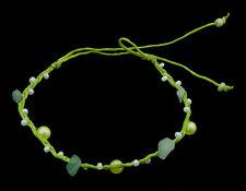 Bracelet bresilien amitie fil marron-perles aventurine 20795-FS5D