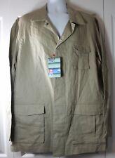 Ecko Unlimited Men's 2XL XXL Linen Blend Long Sleeve Khaki Button Down Shirt NWT