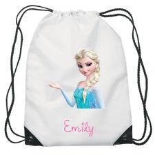 Elsa Frozen D2 Disney Drawstring Swimming School PE Bag for Girls Personalised