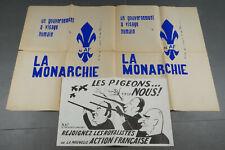 Affiche politique 1972,la Monarchie,la nouvelle action française,royaliste