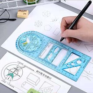 Multifunction Drawing Ruler Mathematics Geometric Measuring Drafting Teaching+