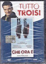 Dvd **CHE ORA E'** di Ettore Scola con Massimo Troisi M. Mastroianni nuovo 1989