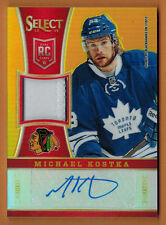 2013-14 ,PANINI ,SELECT , MICHAEL KOSTKA , CARD #267 , AUTO ,PATCH ,ROOKIE , /10