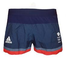 Adidas Split Running Shorts Womens 16 Team GB Training Gym Yeam GB Olympics L