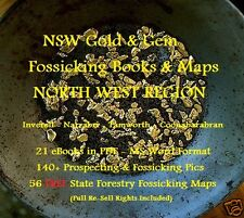 CD - NSW Gold North-West Region 20 eBooks - 56 FREE Fossicking Maps
