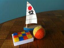 Spielzeug Ball Boot Bauklötze Bodo Hennig 70er Jahre Puppenstube Puppenhaus 1:12