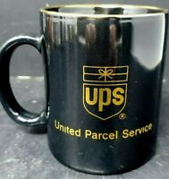 UPS Mug United Parcel Service Black Gold Logo Advertising Vintage Coffee Cup