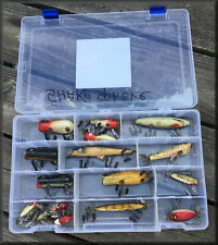 Lot of 16 VINTAGE Shakespesare Fishing Lures in a Flambeau Box