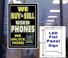 LED sign We Buy & Sell Used Phones unlock Phones 48x24 window wall sign