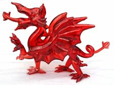 Stunning small glass Welsh dragon,  The red Dragon of Wales. (Y Ddraig Goch)