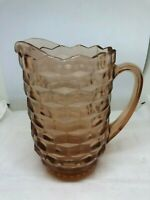 Vintage Indiana Whitehall Cubist Tea Cold Drink Pitcher Light Amber
