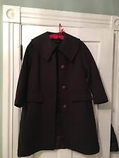 Vintage  J P Stevens Melina Wool Coat SIZE 6 Unique Buttons REMOVABLE LINER