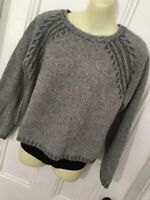 The Territory Ahead Womens M Crop Sweater Wool Cashmere Blend Pullover Italy