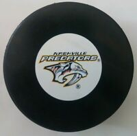 NASHVILLE PREDATORS NHL INGLASCO OFFICIAL HOCKEY PUCK MADE IN SLOVAKIA