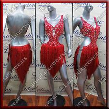 LATIN RHYTHM SALSA BALLROOM COMPETITION DANCE DRESS - SIZE S, M, L (LT853D)