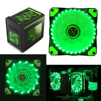 120mm 3-4Pin 15 LED Light Neon Quite Fan PC Computer Case CPU Cooling Fan Lot