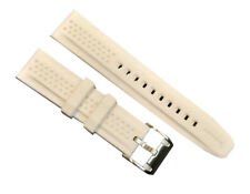 Wrist Watch Band Fossil Silicone 22mm White Bracelet AMS162 NEW