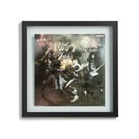 """Kiss Signed By All 4 Band Members 1975 Hit """"Alive"""" Album Cover RP"""