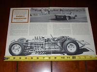 1961 CHRYSLER HEMI POWERED SPORTS RACE CAR - ORIGINAL VINTAGE ARTICLE