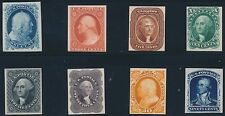 #40P4-47P4 COMPLETE SET 1875 REPRINTS PLATE PROOFS ON CARD F-VF CV $580 BS2022
