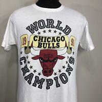 VTG 1991 Chicago Bulls T Shirt NBA Finals Screen Stars Jordan 2 Side Tee 90s