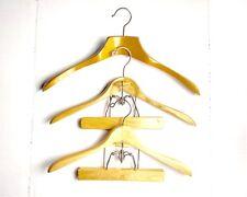 Vintage Wood Suit Hangers Wooden Pant Coat Jacket Natural Clamp