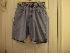 Men's Levi's Loose Silver Tab Distressed Denim Jean Shorts Size 32 U.S.A. Made
