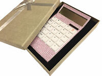 Blingustyle Bling  Crystal Diamante pink 12 Digit Dual Power Calculator  P
