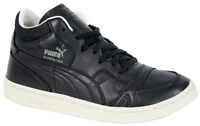 Puma Boris Becker Leather Mid Top Trainers Mens Black Lace Up 357768 04 B27A