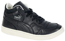 Puma Boris Becker Leather Mid Top Trainers Mens Black Lace Up 357768 04 U40