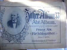 25048 3x Zitheralbum  abel 16 + 2 Oper Schubert 33 Abt um 1900