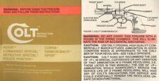 Colt 1984 Agent, Cobra, Viper, Detective Spl, Diamondback etc. Manual
