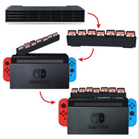 28 in 1 Game Card Case Holder Cartridge Protective Box For Nintendo Switch Black
