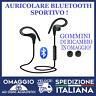 Auricolari Bluetooth Sport Con Microfono Con gommini di ricambio universale 🇮🇹