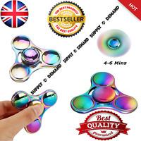 Fidget Spinner Colorful Metal LED Hand Spinner EDC Fingertip Gyro Stress Toys