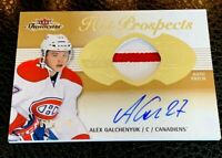 2013/14 Fleer Showcase Hot Prospects Rookie Patch Auto Alex Galchenyuk