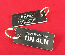 Car Tag Custom engraved keyring IDEAL FOR Repair Centres and Hire/Loan Vehicles