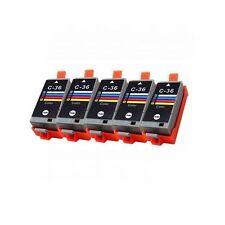 5PK Compatible Ink for Canon CLI36 Color PIXMA ip100 mini 260 mini 320 printers